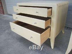 Pair Barbara Barry bedside chests dressers nightstands Baker Hollywood Regency