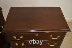 Pair Mahogany Chippendale Chests By Hickory White
