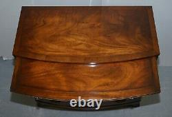 Pair Of Stunning Flamed Mahogany Georgian Style Chests Of Drawers Serving Trays