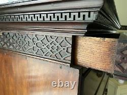RARE 1750s PURCHASED CHARLESTON SC MAHOGANY TALL CHEST ON CARVED STAND RARE