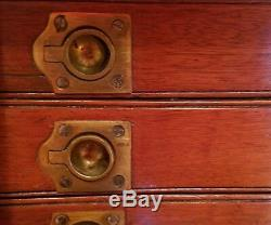 Rare Pair Fine Tall 19th C English Wellington Campaign Specimen Chests W Locks