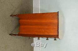 Sheraton 1820's Antique American Cherry and Mahogany Bow Front Chest of Drawers
