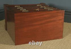 Small Antique English Georgian Mahogany Chest of Drawers with Brushing Slide