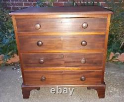 Small Size Antique Georgian Mahogany Chest Drawers DELIVERY POSSIBLE