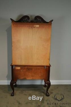 Stanley Stoneleigh Mahogany Chippendale Style Ball & Claw Highboy Tall Chest