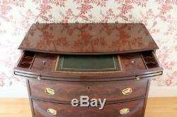 TOP QUALITY White Furniture Company Solid Mahogany Inlaid Bow Front Chest