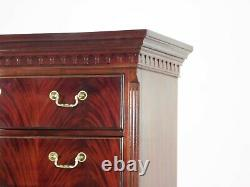 Thomasville Flame Mahogany Georgian Chippendale Tall Chest on Chest