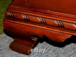Vintage 1950s French Regency Style Chest on Chest in Mixed Mahogany & Fruitwood