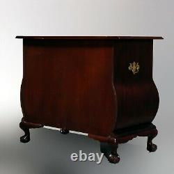 Vintage Boston Chippendale Style Mahogany Swell Bombe Chest by Baker