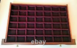 Vintage Large EUREKA USA Mahogany Wood Jewelry Chest Box With 3 Drawers