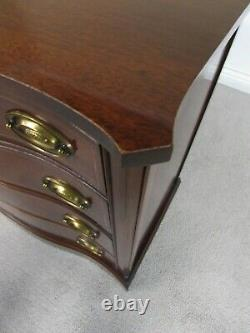 Vintage Mahogany Bow Front Bachelor Chest, Dresser, Hall Console