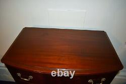 Vintage Mahogany Claw Foot Regency Style Tall Chest