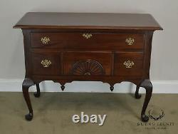 Vintage Mahogany Queen Anne Low Boy Style Blanket Chest
