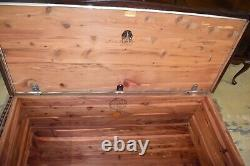 Vintage Mahogany Tall Lane Cedar blanket chest, lock removed