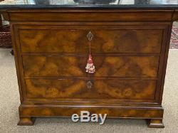 Vintage dresser Maitland Smith four drawer mahogany chest French Empire style