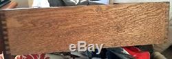 Vintagegentlemans Chest Dreser 1950 7 Drawer Mahogany Brass Trim