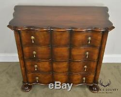 William and Mary Style Custom Mahogany Serpentine Chest of Drawers
